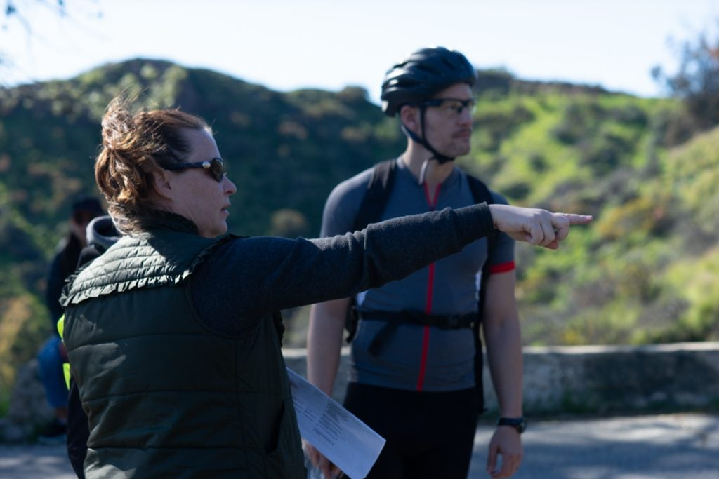 BTS of Director Jen McGowan crafting the blocking of the next shot.