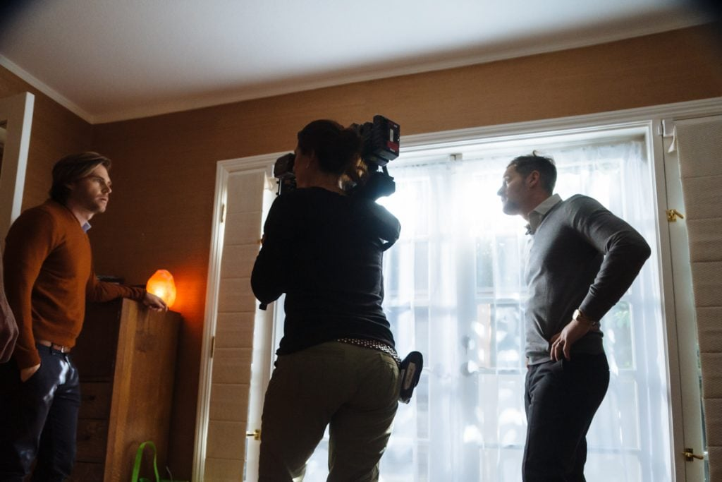 Actors Brant Rotnem and Jeremy Glazer in a scene shot by Director of Photography Stephanie Martin, ADF